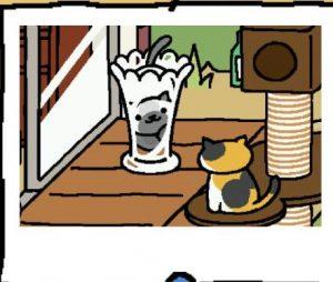 ぽいんとガラス花瓶