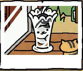 しろくろガラス花瓶でパフェに